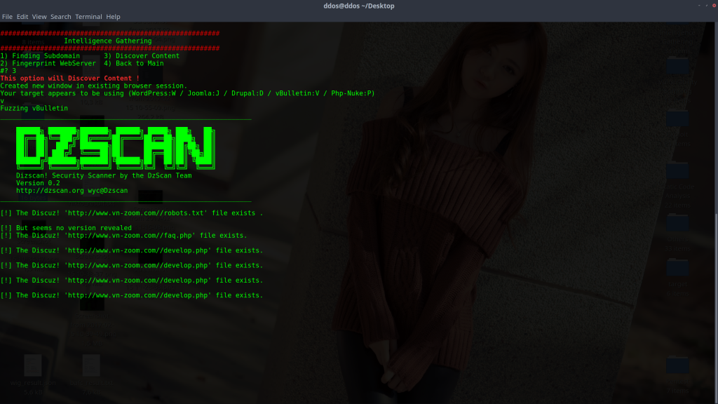 For example, my target are running vBulletin: