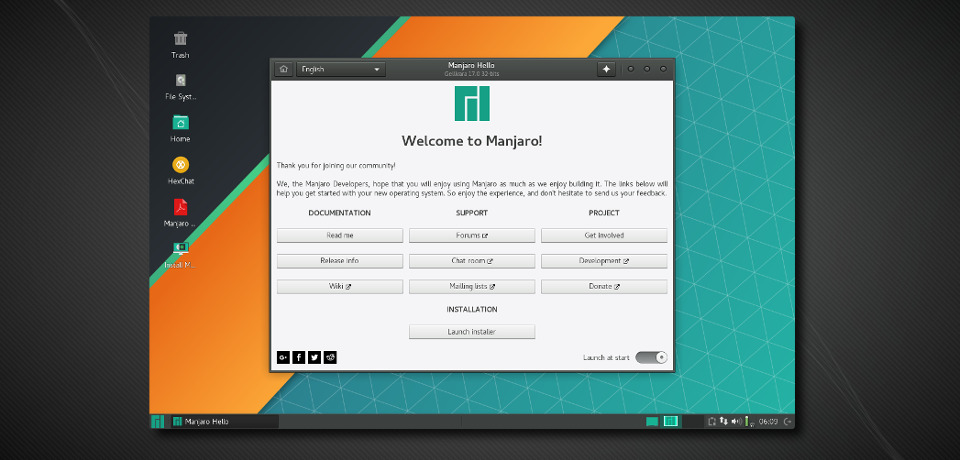 Manjaro Linux 17 1 5 release, Professional and user-friendly