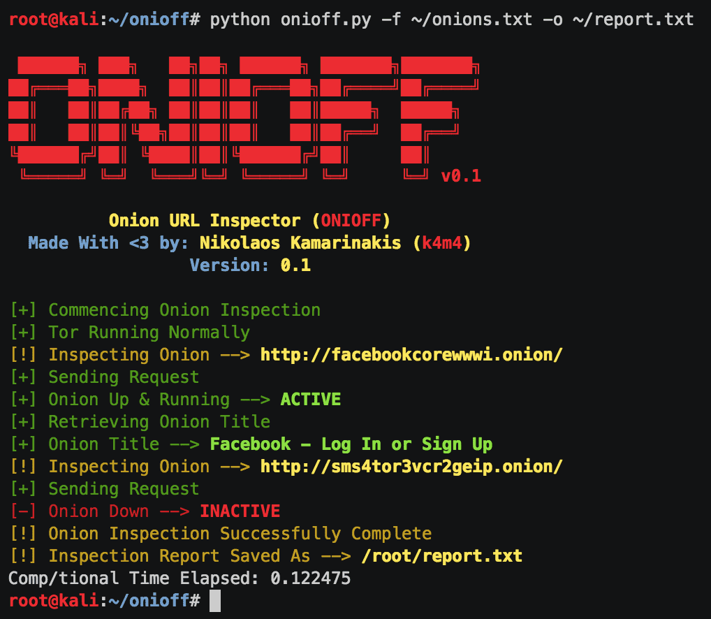 onioff v2 0 releases: Inspecting Deep Web Links