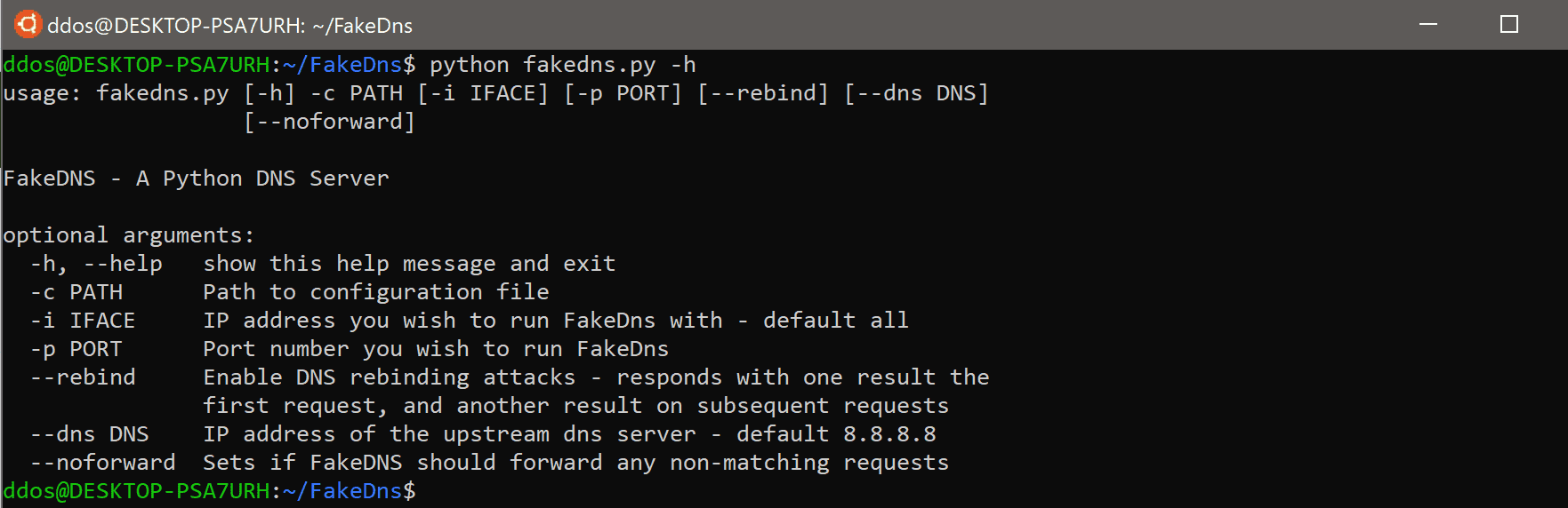 FakeDns: python MITM DNS server with support for DNS