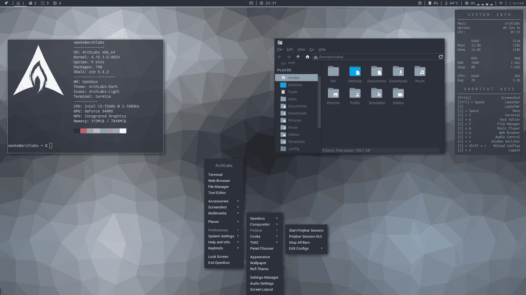 ArchLabs Linux 2018 05 releases, Arch Linux based distro