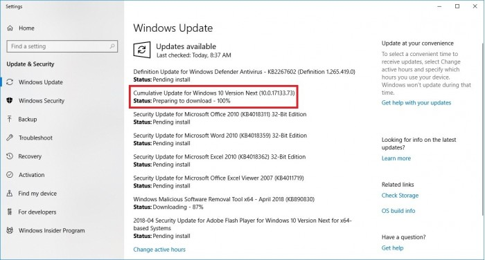 Windows 10 Spring Creator Updates will be available in coming days