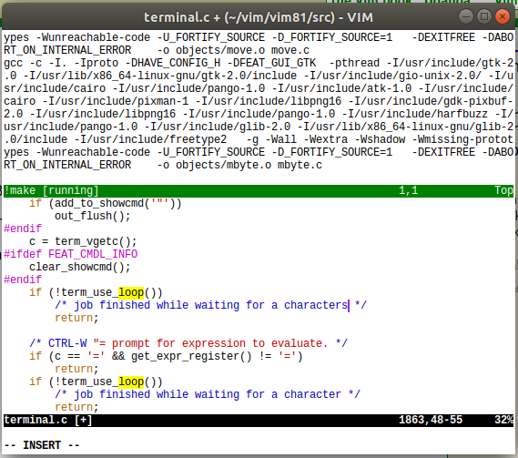 Vim 8 1 released: support for running a terminal in a Vim window