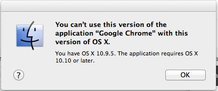 chrome mac os x 10.9