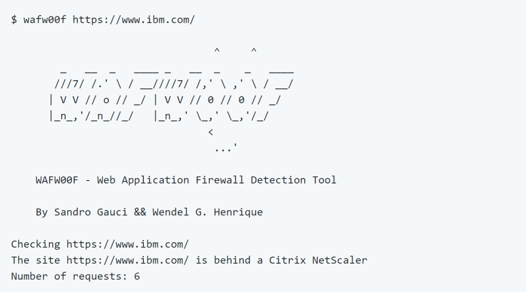 wafw00f v1 0 released: identifies and fingerprints Web