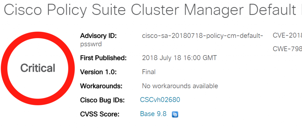 Cisco Policy Suite Cluster Manager