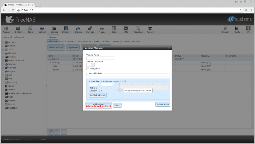 FreeNAS 11 2 Beta 1 releases: FreeBSD-based operating system