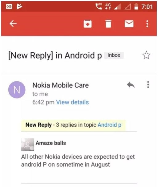 Nokia phones Android P