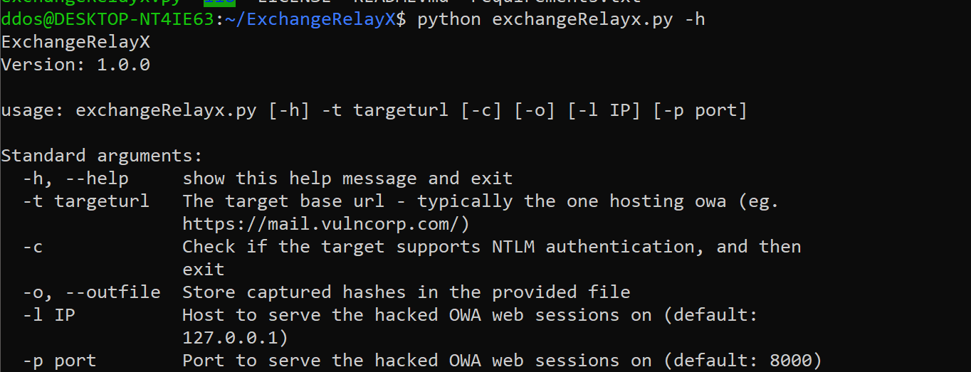 ExchangeRelayX: An NTLM relay tool to the EWS endpoint