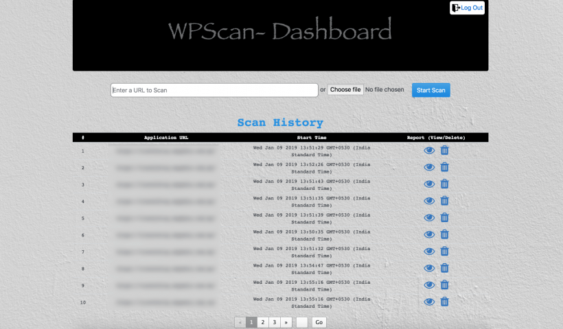 WPScan Web Interface