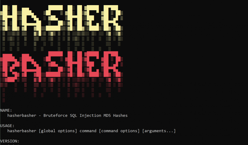 SQL injection brute forced MD5 hash