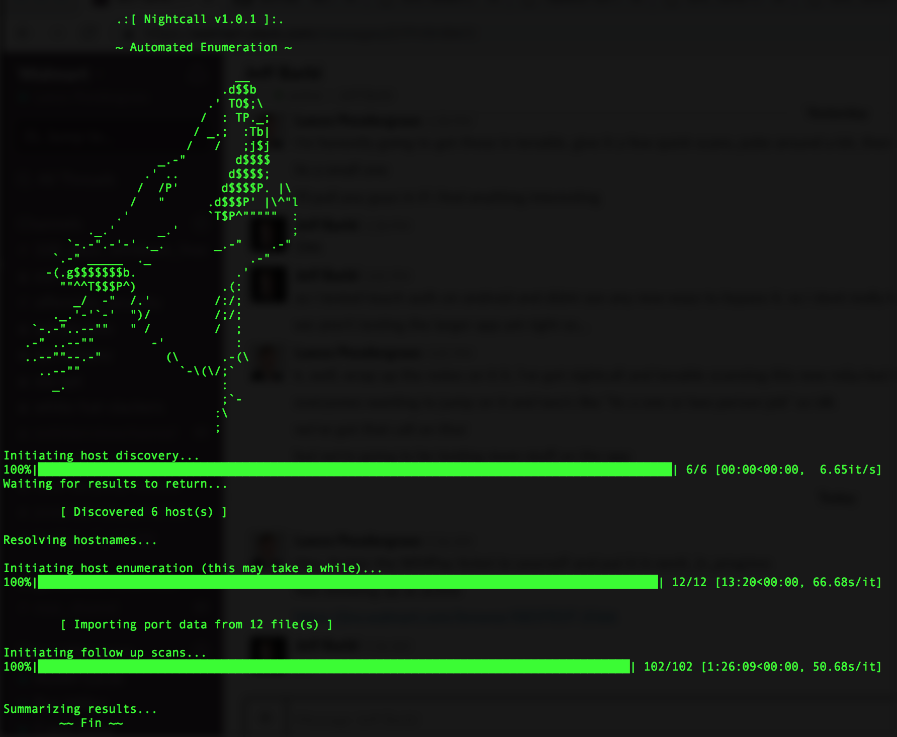 nightcall: Automated Enumeration Script for Pentesting