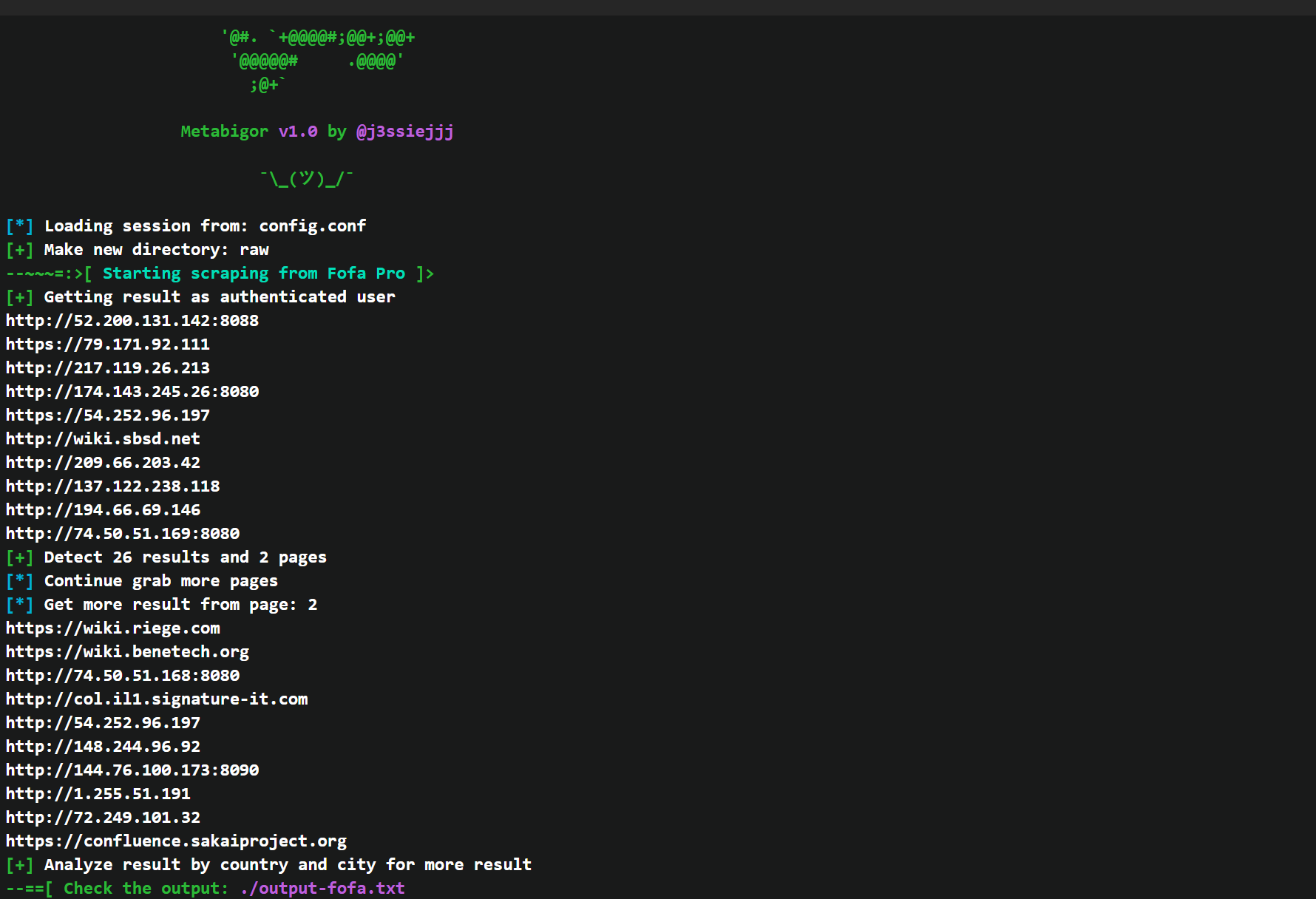 Metabigor: Command line Search Engines without any API key