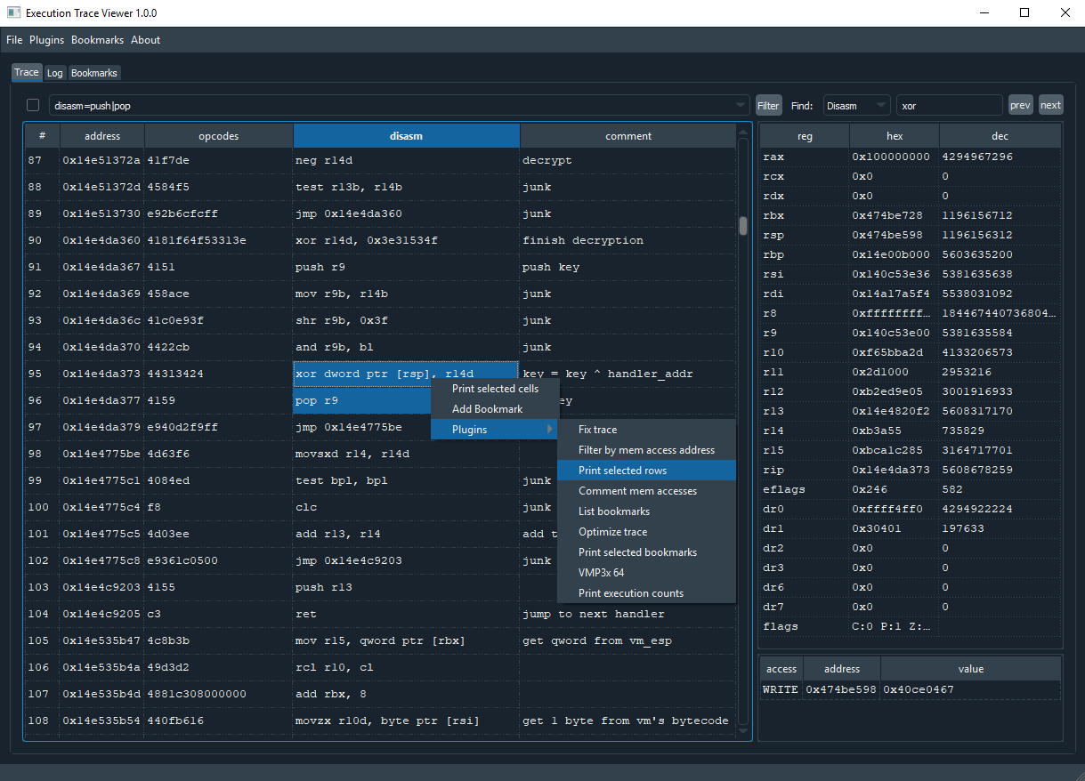 Execution Trace Viewer: viewing, editing and analyzing execution traces